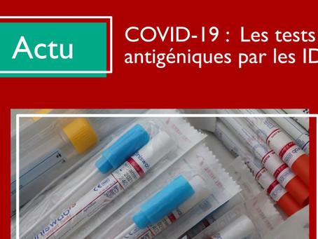 Covid-19 : Tests antigéniques par les IDEL