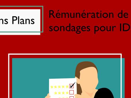 Bons Plans : rémunération de sondages pour IDEL