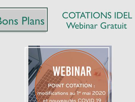 COTATIONS IDEL : Webinar gratuit