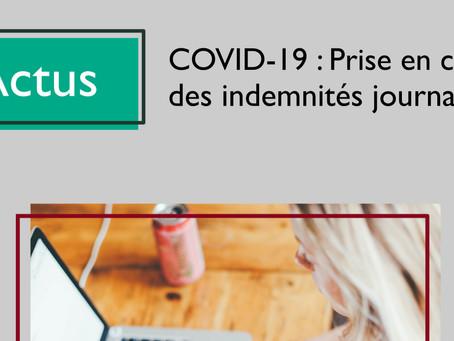 COVID-19 : Prise en charge des Indemnités Journalières des libéraux