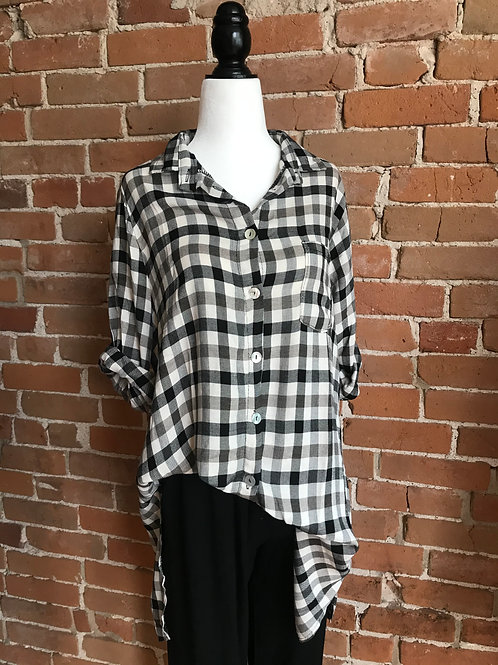 Made in Italy - Oversize Plaid Shirt