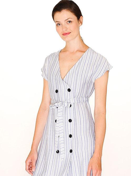 Pepaloves - Buttoned Stripped Dress