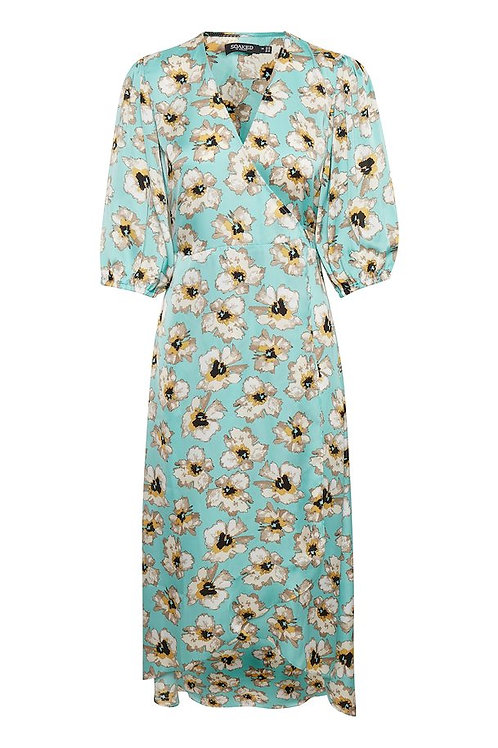 Soaked In Luxury Angel Blue Floral Dress