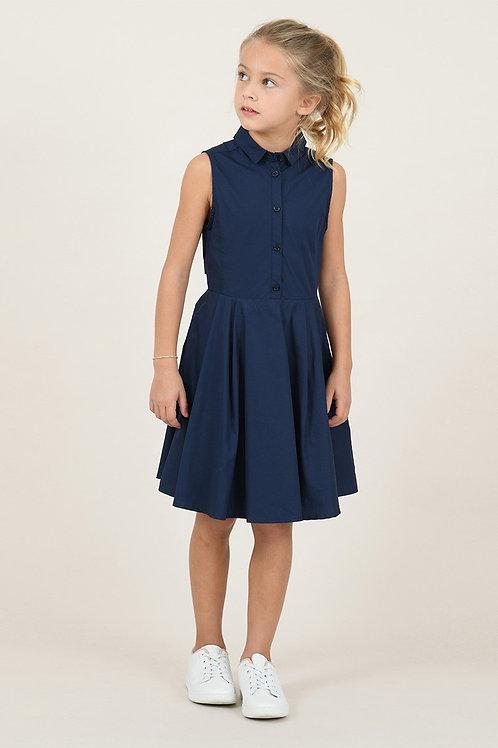 Mini Molly - Navy Button Dress