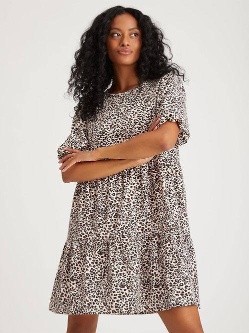 Sanctuary Leopard Babydoll Dress