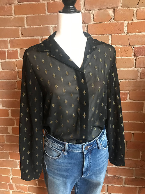 Made in Italy - Black and Gold Top