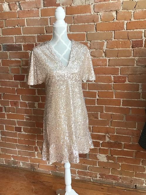 Moonlight Pink Sequins Dress
