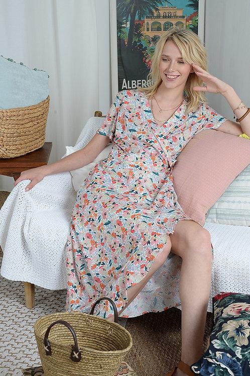 Molly Bracken Wrap Printed Dress