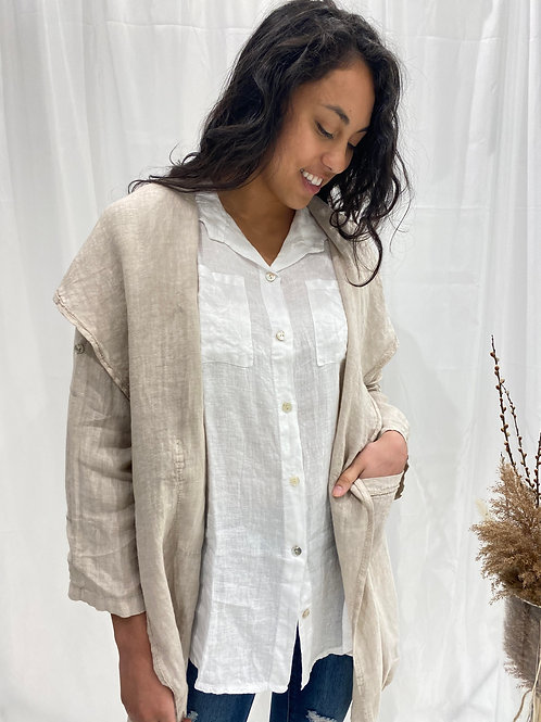Made in Italy Anna Sand Cardigan