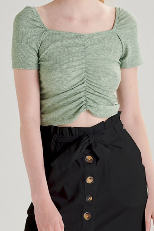 24 Colours - Green Crop Top