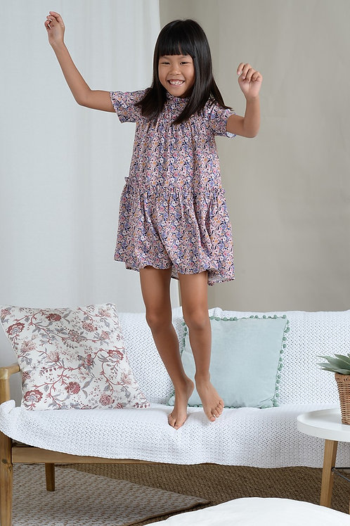 Mini Molly Flared Dress with Floral Print