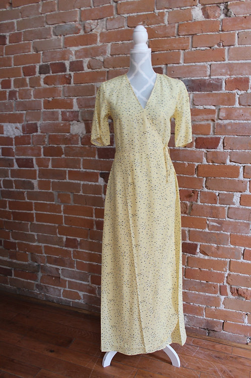 Zilch -Long Yellow Tie Dress