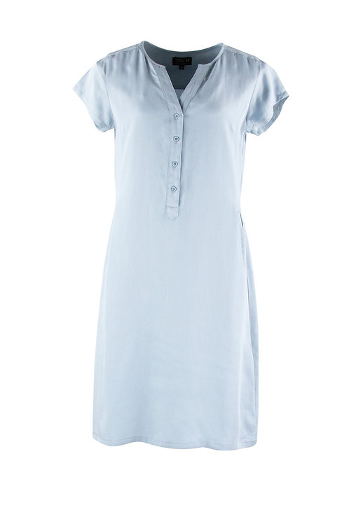 Zilch - Blue Button Dress