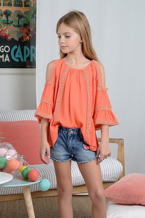 Mini Molly Flare Tunic with Lace