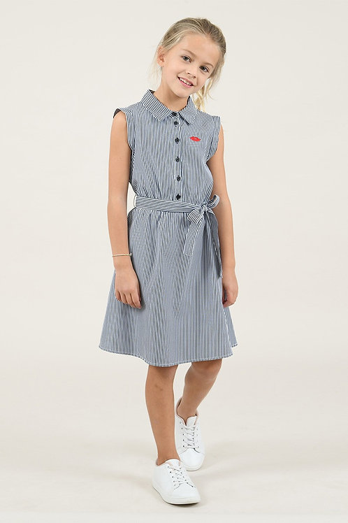 Mini molly - Black Stripped Dress