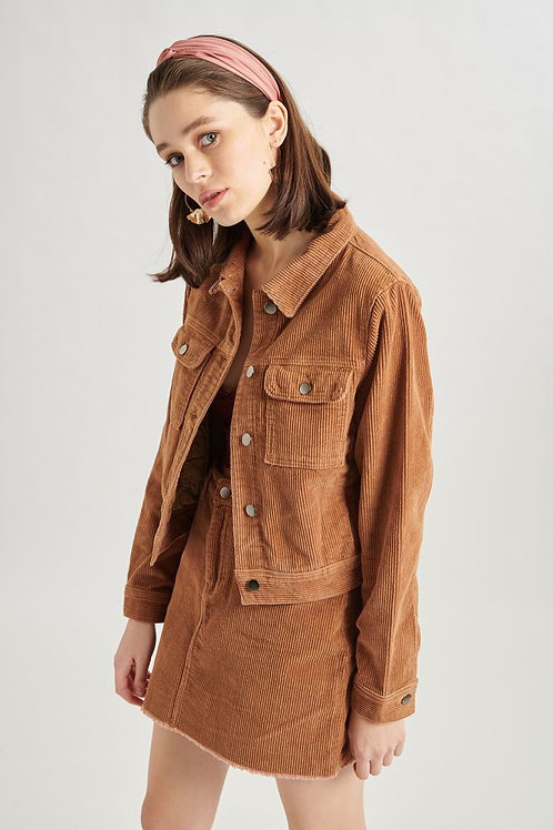 24 Colours - Brown Corduroy Jacket