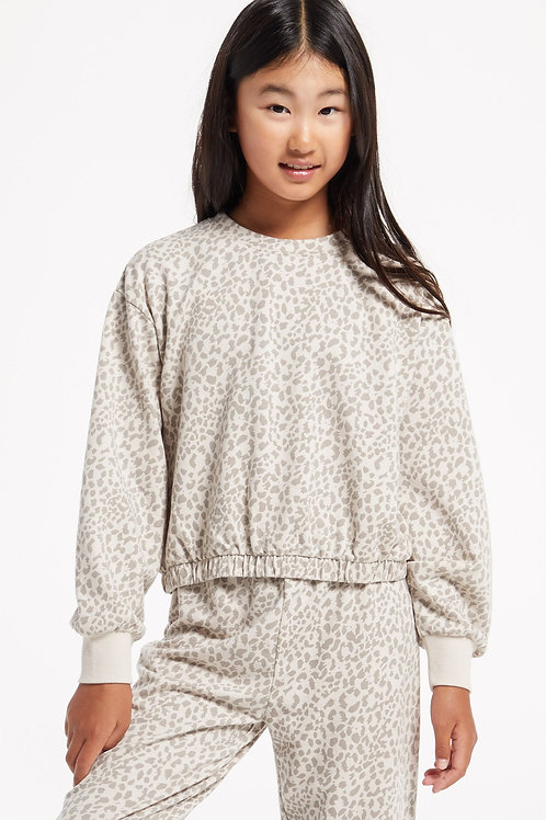 Z Supply (kids) - Carmen Leopard Pullover