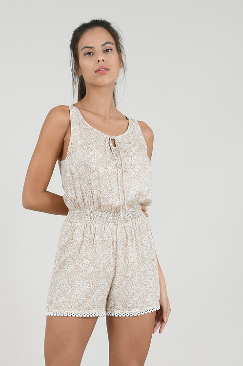 Molly Bracken Petal Playsuit with Lace