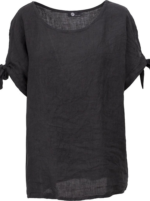 Made in Italy Trina Cold Shoulder Tee