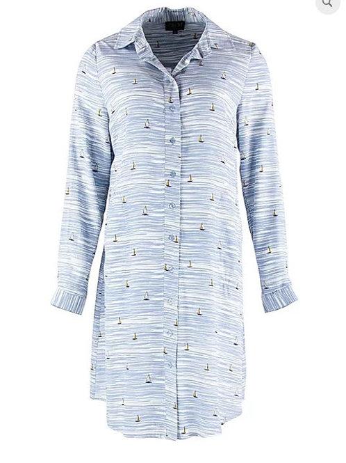 Zilch -Button up Sailboat Dress