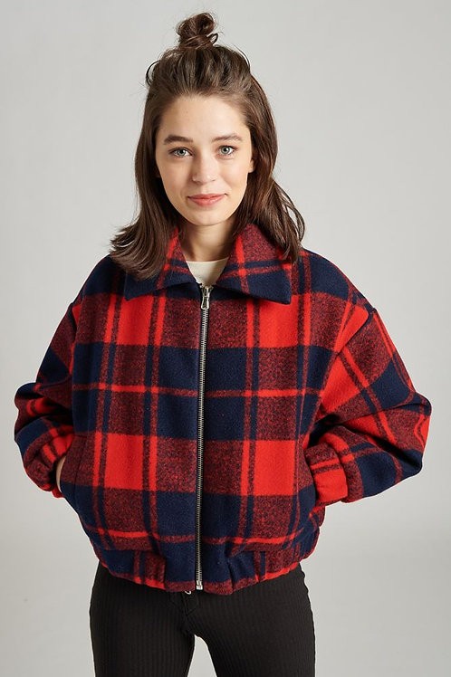 24 Colours - Red Plaid Jacket