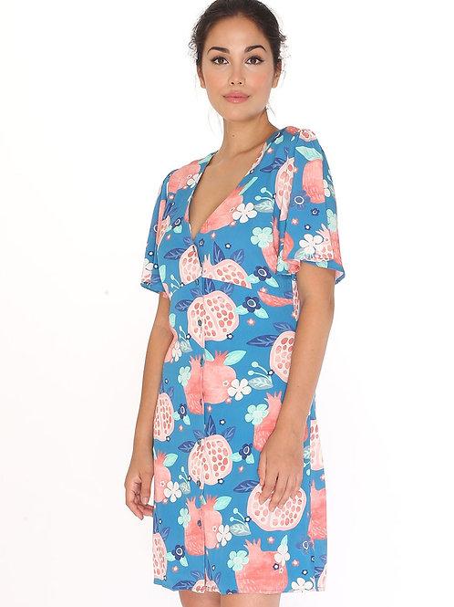 Pepaloves Pomegranate Shirt Dress
