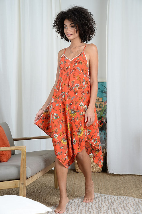 Molly Bracken Asymmetric Printed Dress