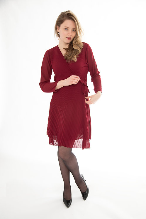 Made in Italy - Wine Wrap Dress