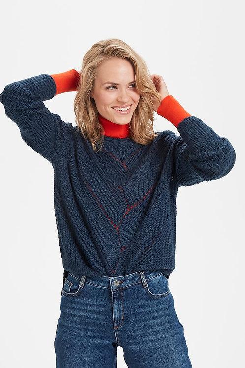 Kaffe - Navy Knit Sweater