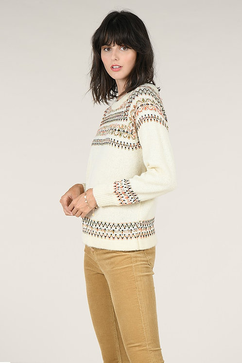 Molly Bracken - Offwhite Knitted Sweater