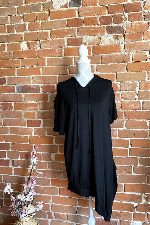 Made in Italy - Black Tee Dress