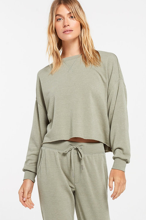 Z Supply - Izzy Loop Terry Long Sleeve Top