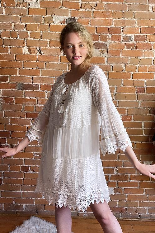 Made in Italy - Shelly Boho Lace Dress