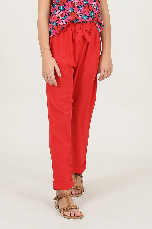 Mini Molly - Red Trousers with Bow