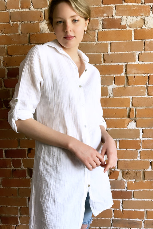 Made in Italy - Sara Linen Blouse