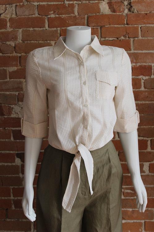 Molly Bracken - Front Tie Button Up Tee