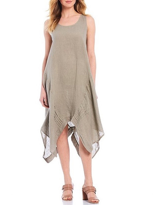 Made in Italy - Flowy Linen Dress