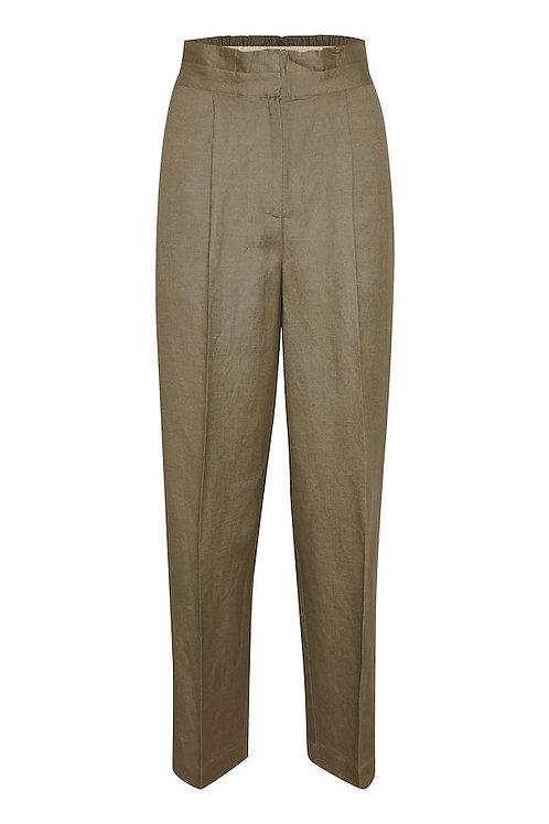 Soaked in Luxury- Khaki Green Pants