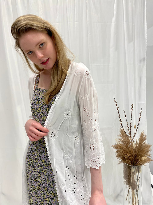 Made In Italy Flower Cardigan