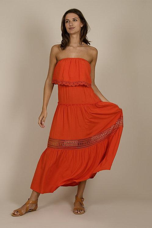 Molly Bracken - Coral Maxi Dress