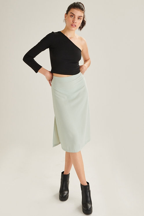 24 Colour Teal Mid-length Skirt