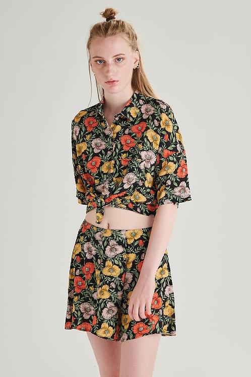 24 Colours - Flower Print Shorts