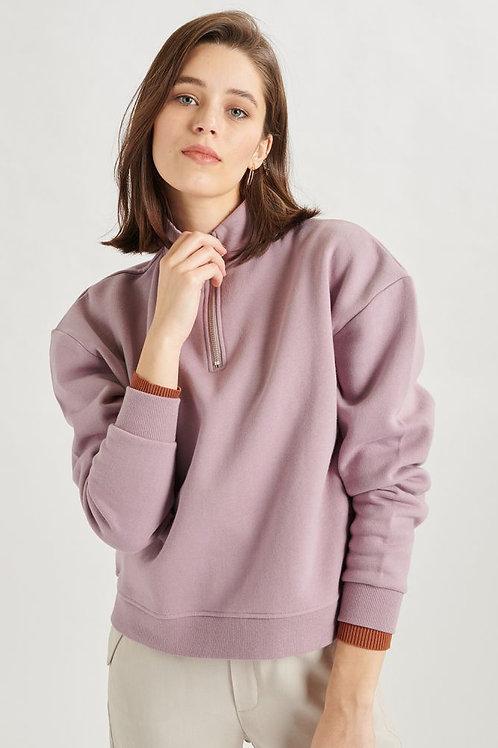 24 Colours - Purple Polyester Half Zip