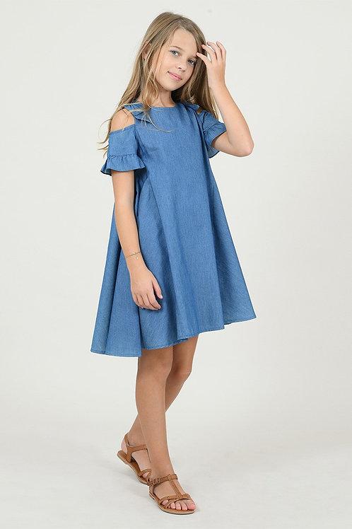 Mini Molly -Denim Flare Dress