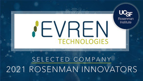 THE EVREN TECHNOLOGIES TEAM HAS BEEN SELECTED AS 2021 ROSENMAN INNOVATORS