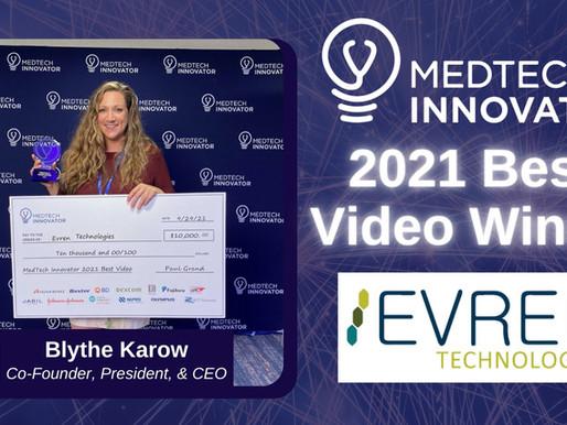 Evren Technologies, Inc. Wins MedTech Innovator's Best Video Contest