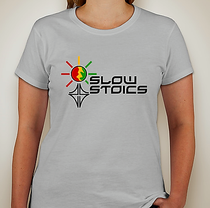Ladies Rasta Goddess T-shirt - Ice Grey