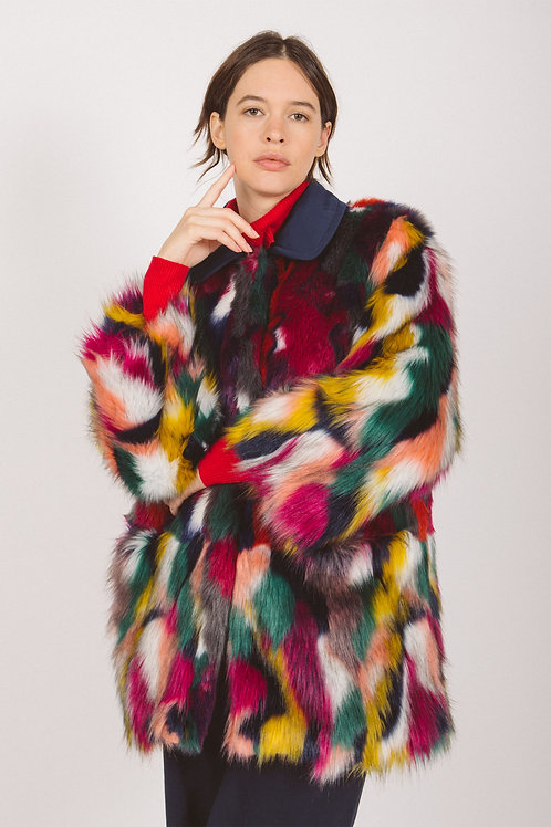 Multi furry coat