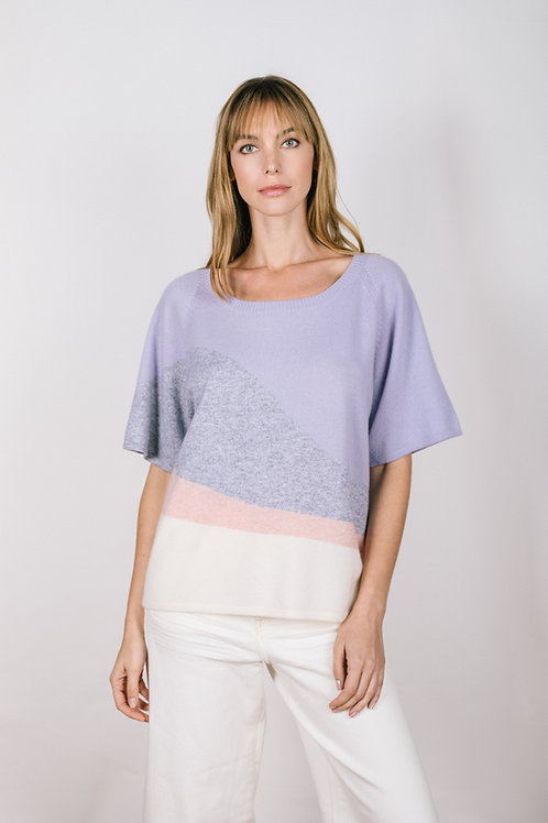 Waves Intarsia Relaxed Tee