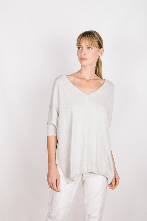 Half Sleeve Relaxed Sweater - Cotton